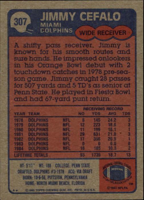 1985-Topps-Football-Card-Pick-274-396 thumbnail 59