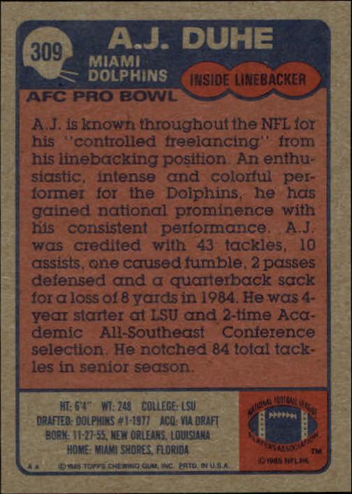 1985-Topps-Futbol-Tarjeta-Recoger-274-396 miniatura 61
