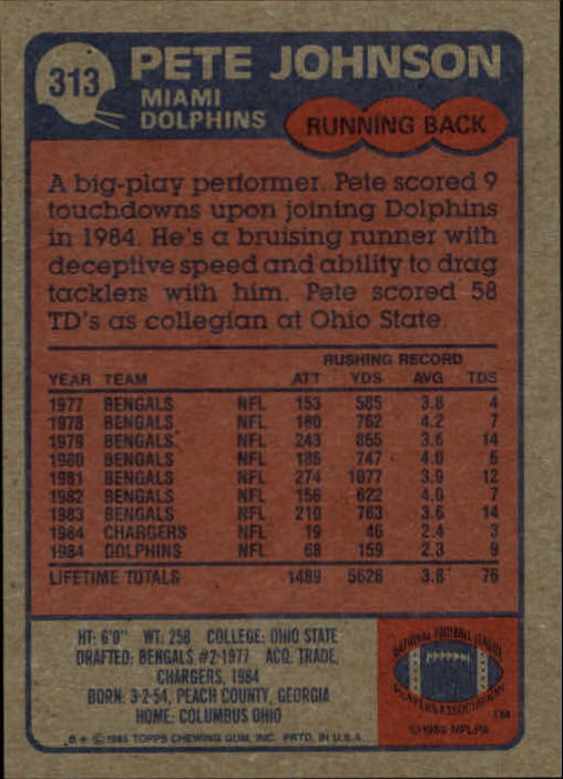 1985-Topps-Futbol-Tarjeta-Recoger-274-396 miniatura 69