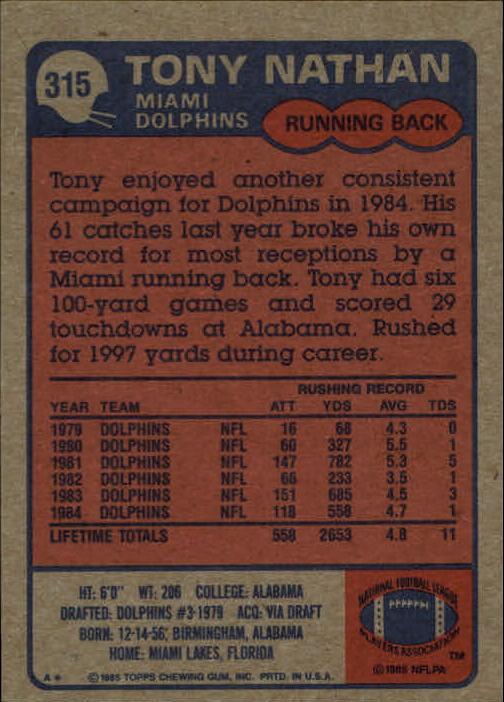 1985-Topps-Football-Card-Pick-274-396 thumbnail 72