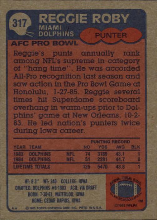 1985-Topps-Football-Card-Pick-274-396 thumbnail 74