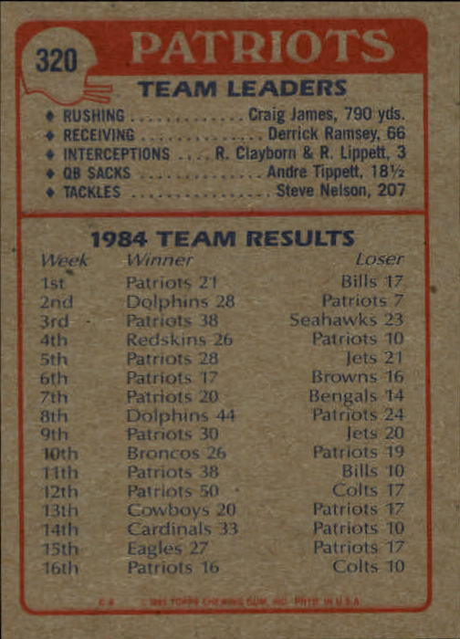1985-Topps-Futbol-Tarjeta-Recoger-274-396 miniatura 77
