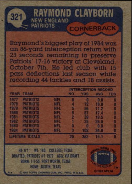 1985-Topps-Football-Card-Pick-274-396 thumbnail 80