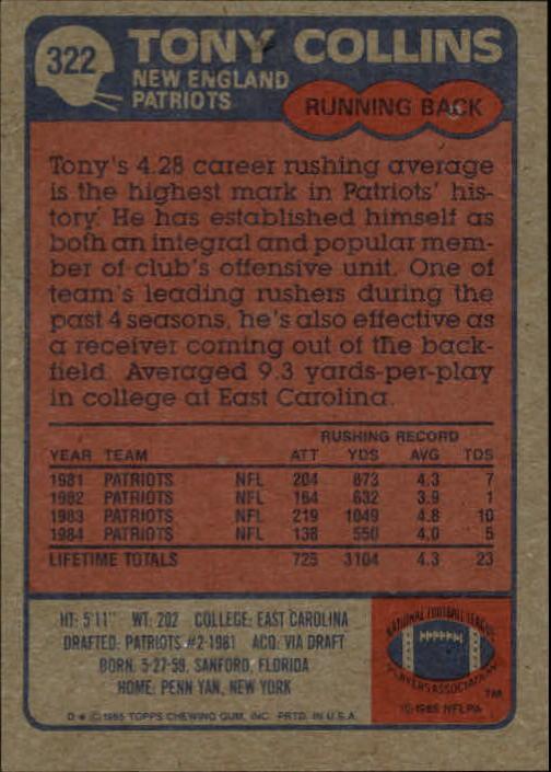 1985-Topps-Football-Card-Pick-274-396 thumbnail 82