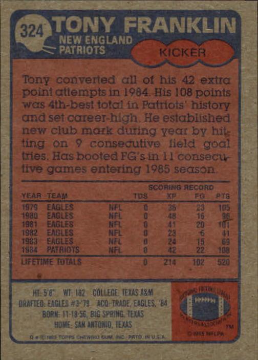 1985-Topps-Futbol-Tarjeta-Recoger-274-396 miniatura 85