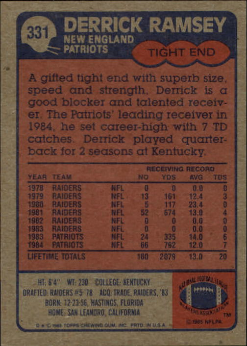 1985-Topps-Football-Card-Pick-274-396 thumbnail 94