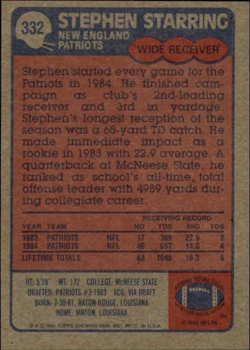 1985-Topps-Futbol-Tarjeta-Recoger-274-396 miniatura 95