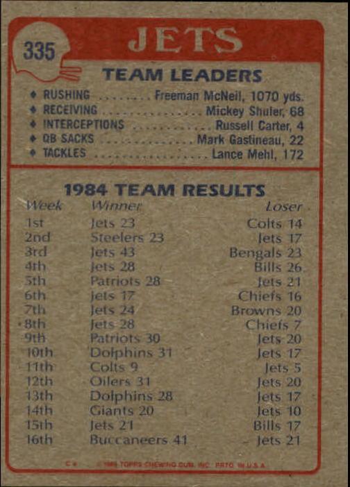 1985-Topps-Futbol-Tarjeta-Recoger-274-396 miniatura 101