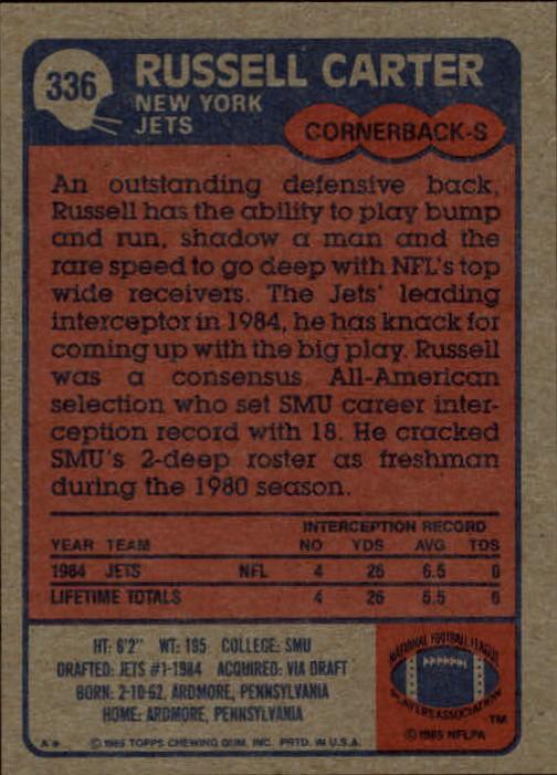 1985-Topps-Football-Card-Pick-274-396 thumbnail 104