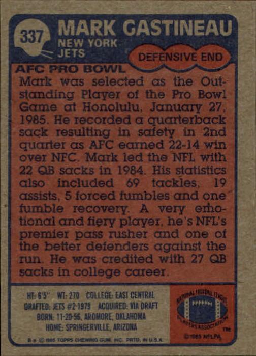 1985-Topps-Futbol-Tarjeta-Recoger-274-396 miniatura 105