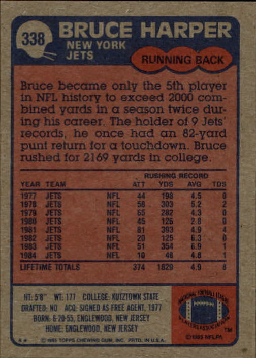 1985-Topps-Football-Card-Pick-274-396 thumbnail 108