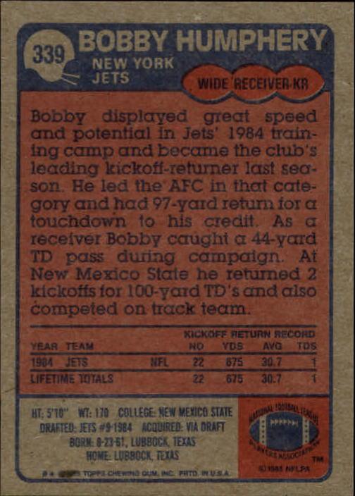 1985-Topps-Football-Card-Pick-274-396 thumbnail 110