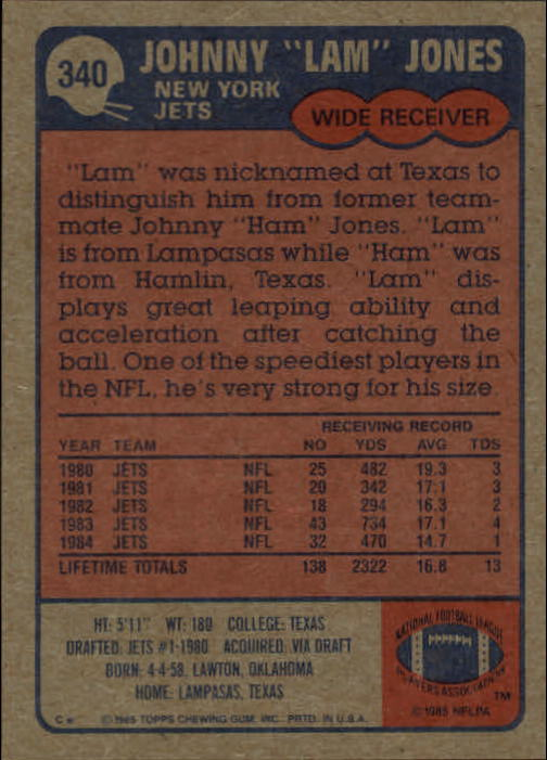1985-Topps-Futbol-Tarjeta-Recoger-274-396 miniatura 111