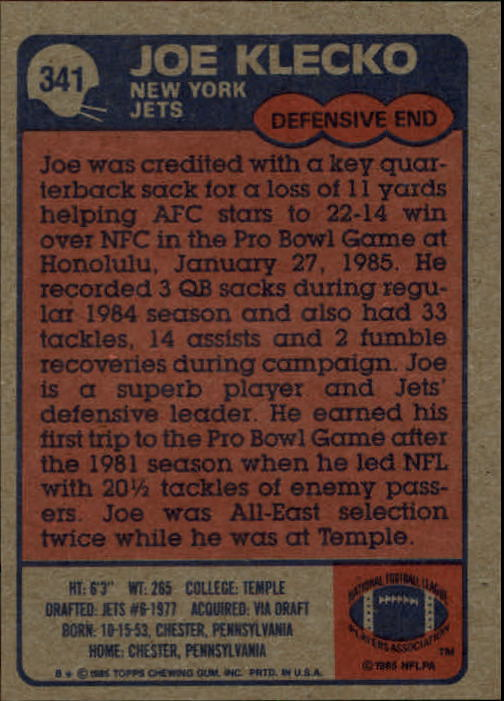 1985-Topps-Futbol-Tarjeta-Recoger-274-396 miniatura 113