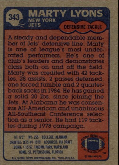 1985-Topps-Football-Card-Pick-274-396 thumbnail 118