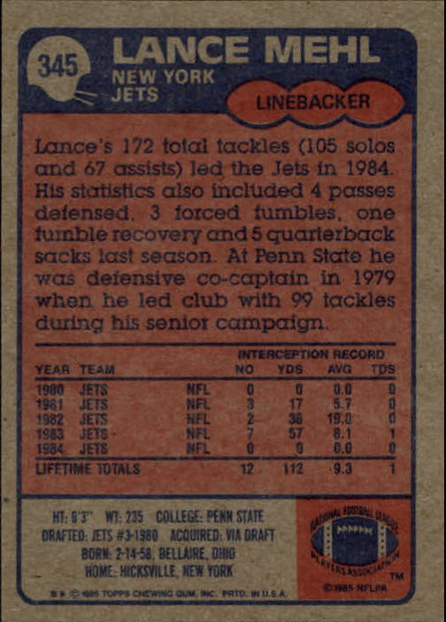 1985-Topps-Football-Card-Pick-274-396 thumbnail 122
