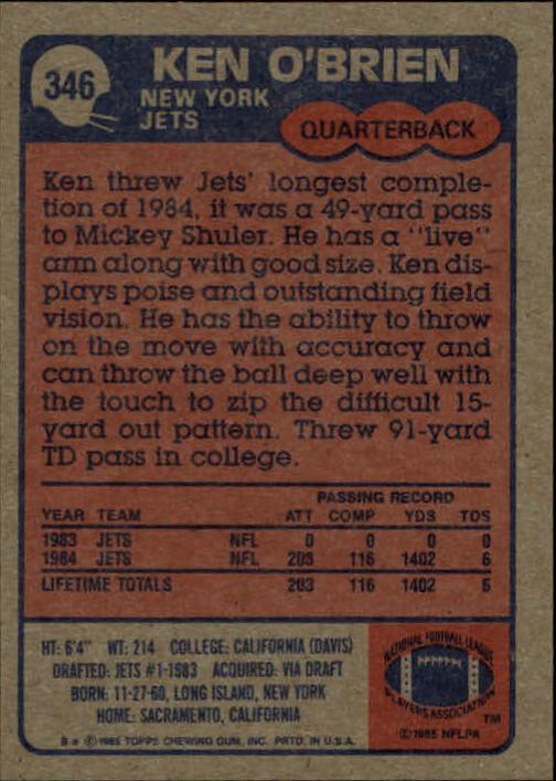 1985-Topps-Football-Card-Pick-274-396 thumbnail 124