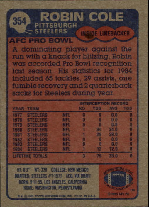 1985-Topps-Futbol-Tarjeta-Recoger-274-396 miniatura 129