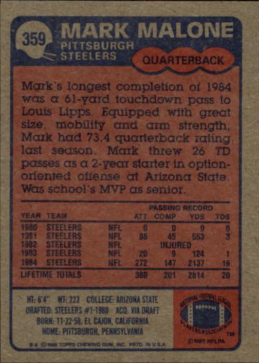 1985-Topps-Football-Card-Pick-274-396 thumbnail 134
