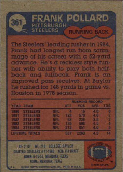 1985-Topps-Futbol-Tarjeta-Recoger-274-396 miniatura 135