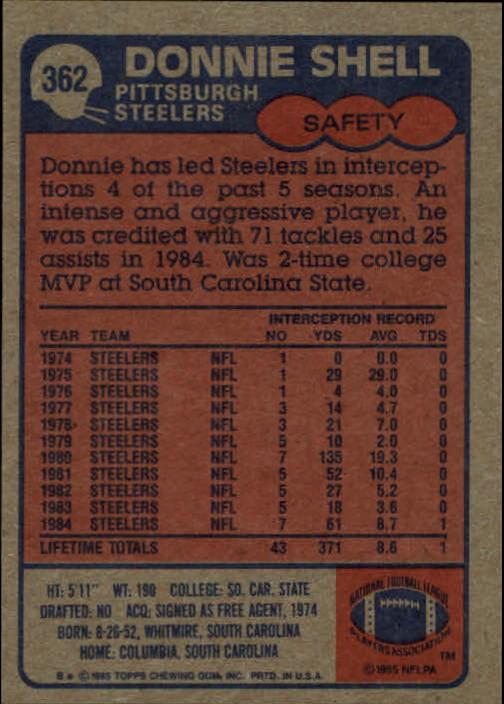 1985-Topps-Futbol-Tarjeta-Recoger-274-396 miniatura 137