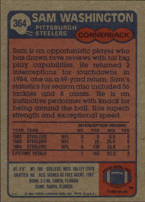 1985-Topps-Futbol-Tarjeta-Recoger-274-396 miniatura 141