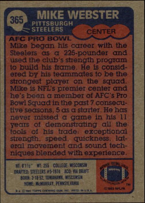 1985-Topps-Football-Card-Pick-274-396 thumbnail 144