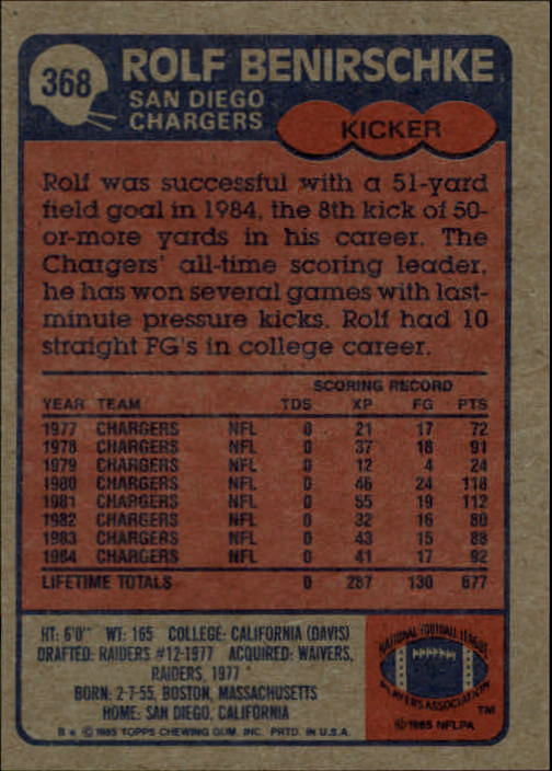 1985-Topps-Futbol-Tarjeta-Recoger-274-396 miniatura 149