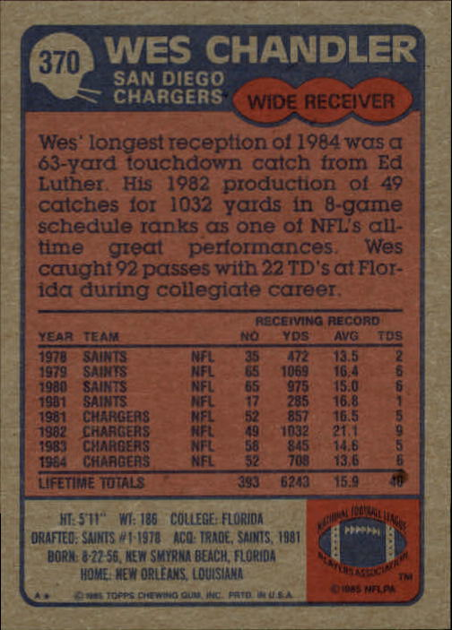 1985-Topps-Football-Card-Pick-274-396 thumbnail 154
