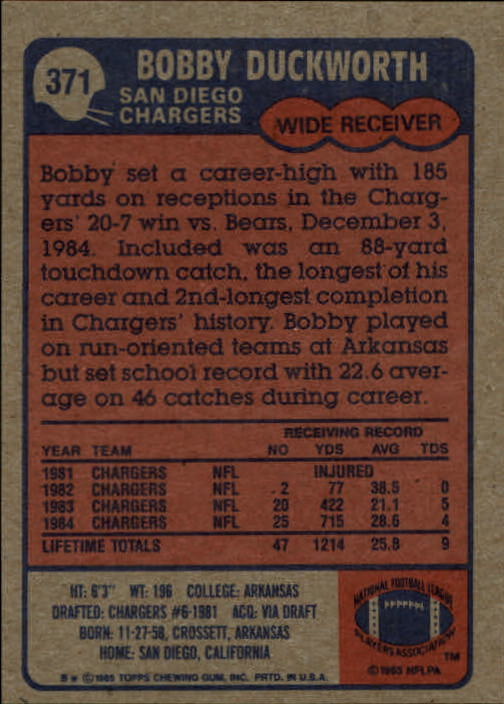 1985-Topps-Futbol-Tarjeta-Recoger-274-396 miniatura 155