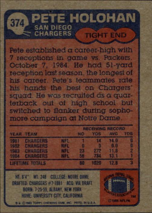 1985-Topps-Football-Card-Pick-274-396 thumbnail 160