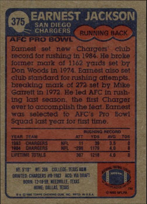 1985-Topps-Football-Card-Pick-274-396 thumbnail 162