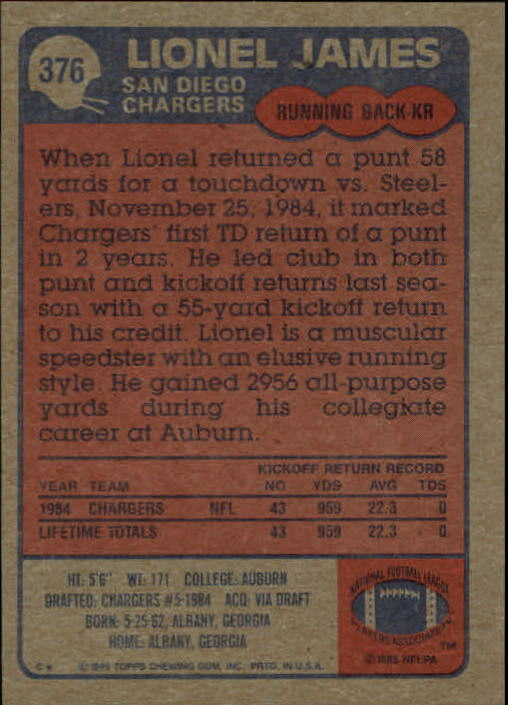 1985-Topps-Futbol-Tarjeta-Recoger-274-396 miniatura 163