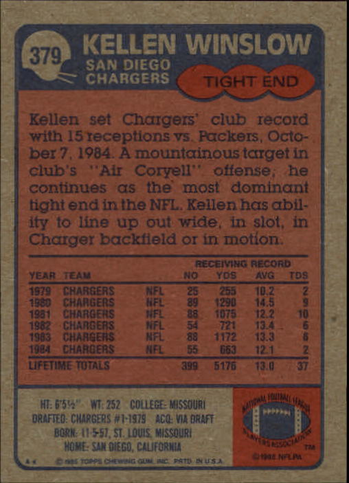 1985-Topps-Football-Card-Pick-274-396 thumbnail 170