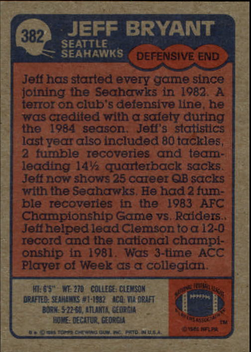 1985-Topps-Football-Card-Pick-274-396 thumbnail 176