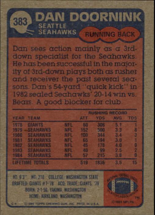 1985-Topps-Futbol-Tarjeta-Recoger-274-396 miniatura 177