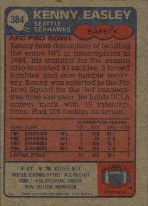 1985-Topps-Football-Card-Pick-274-396 thumbnail 180