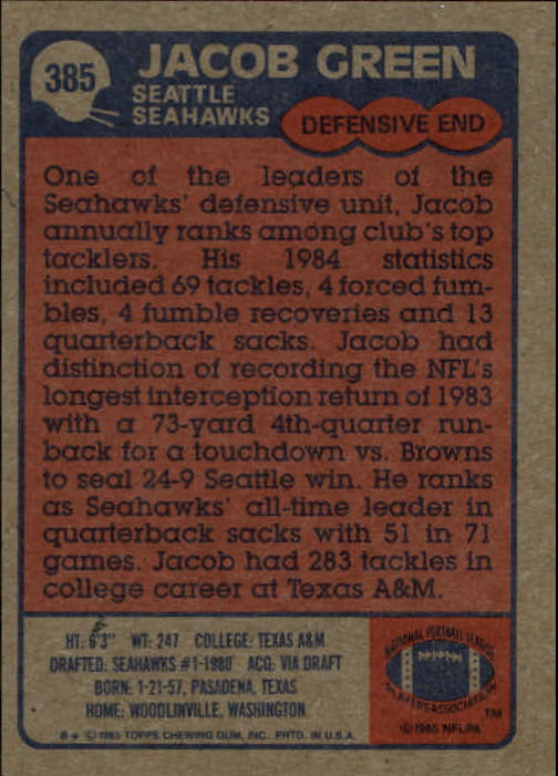 1985-Topps-Football-Card-Pick-274-396 thumbnail 182