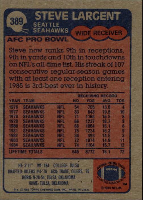 1985-Topps-Futbol-Tarjeta-Recoger-274-396 miniatura 189