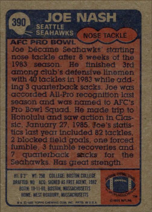 1985-Topps-Futbol-Tarjeta-Recoger-274-396 miniatura 191