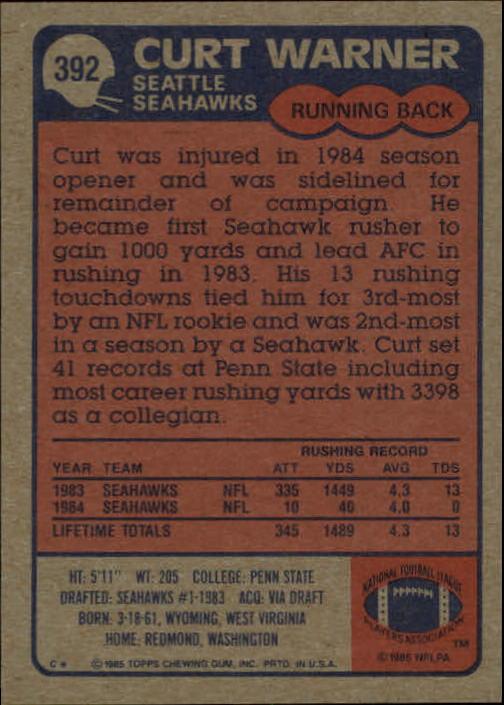 1985-Topps-Futbol-Tarjeta-Recoger-274-396 miniatura 195