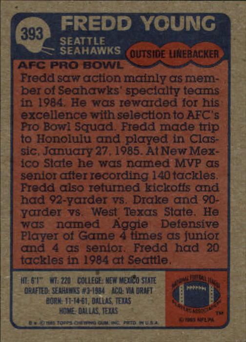 1985-Topps-Futbol-Tarjeta-Recoger-274-396 miniatura 197