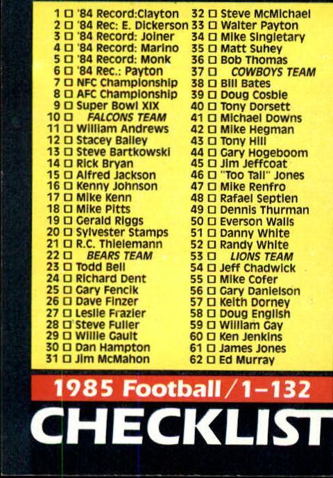 1985-Topps-Futbol-Tarjeta-Recoger-274-396 miniatura 198