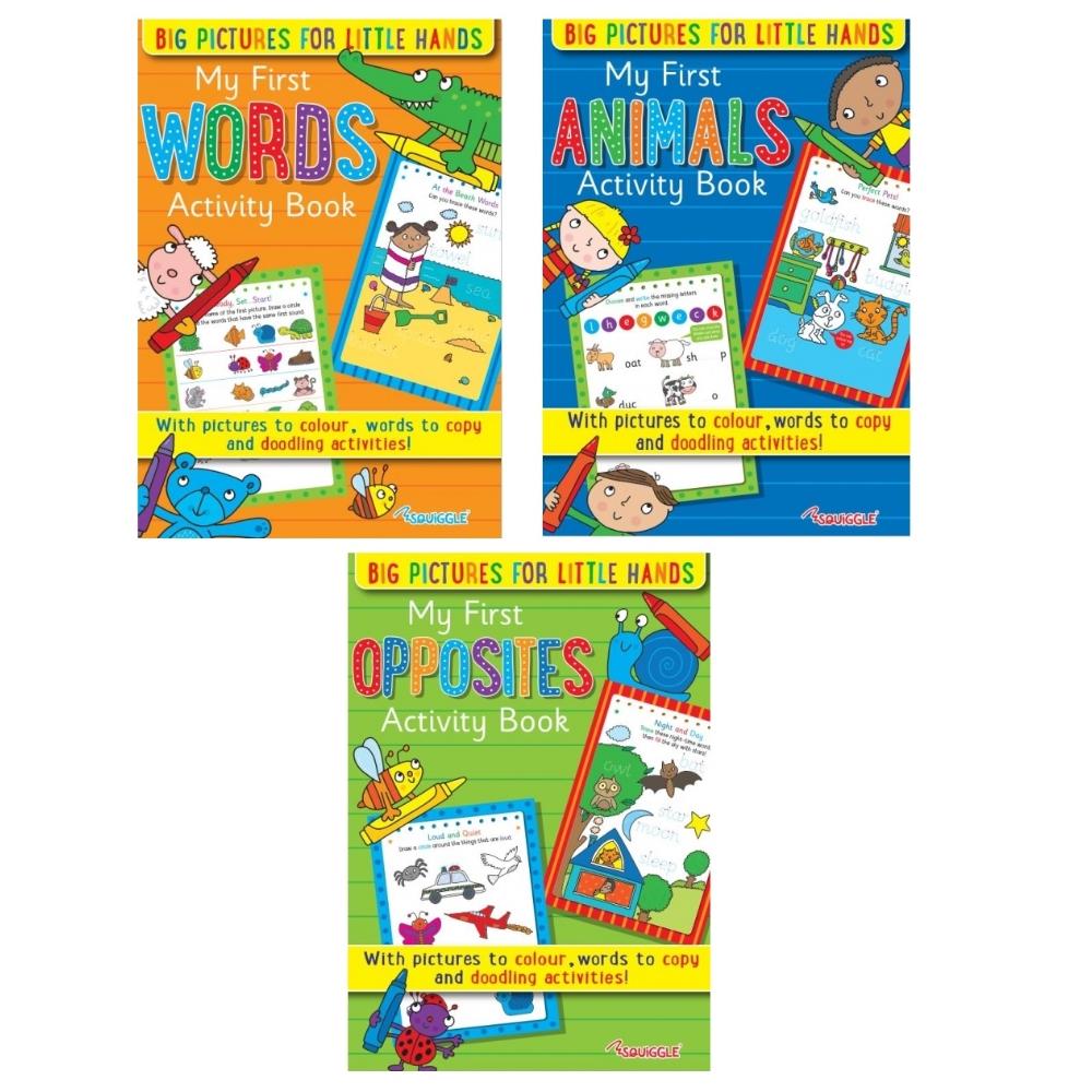 Indexbild 2 - Mein Erstes Activity Bücher Für Lernen Zwei Sets Von 3 Zu Wähle Abc 123 Formen