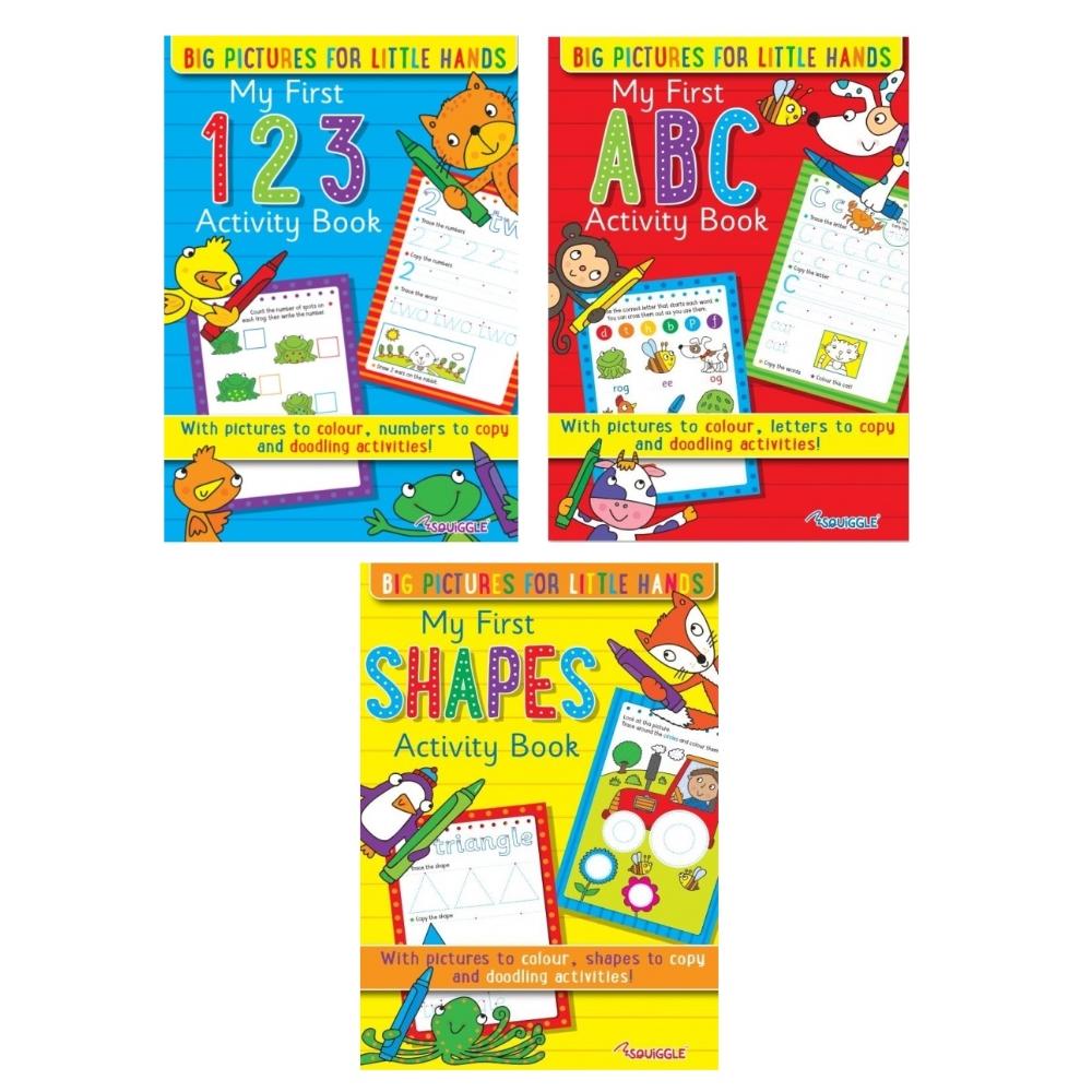 Indexbild 3 - Mein Erstes Activity Bücher Für Lernen Zwei Sets Von 3 Zu Wähle Abc 123 Formen