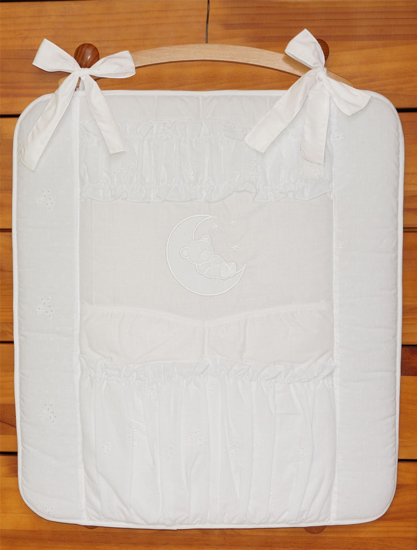 Cuna-Ordenado-ORGANIZADOR-4-Pockets-Match-Guarderia-Bebe-Cama-Ropa-de-Moon