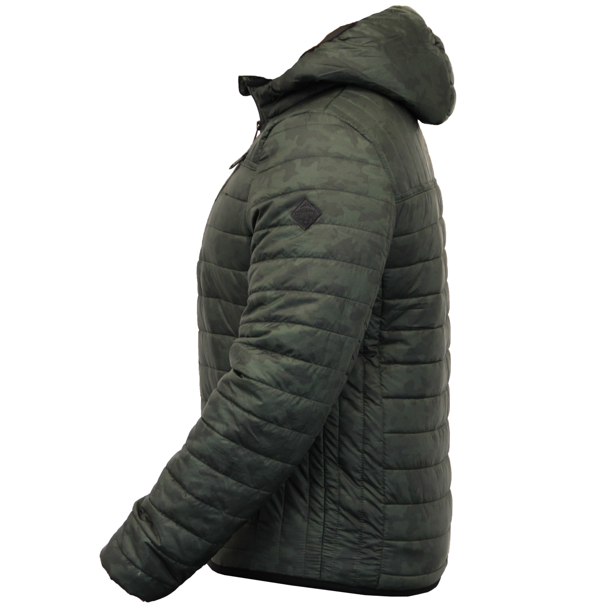 Mens Bubble Jacket Brave Soul Coat Camo Threadbare Hooded Quilted ... 617ae7c6fe