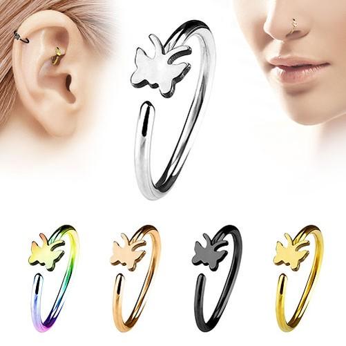 Piercing-de-Nariz-Universal-Rook-Daith-Oreja-Anillo-con-Motivo-Acero-Quirurgico