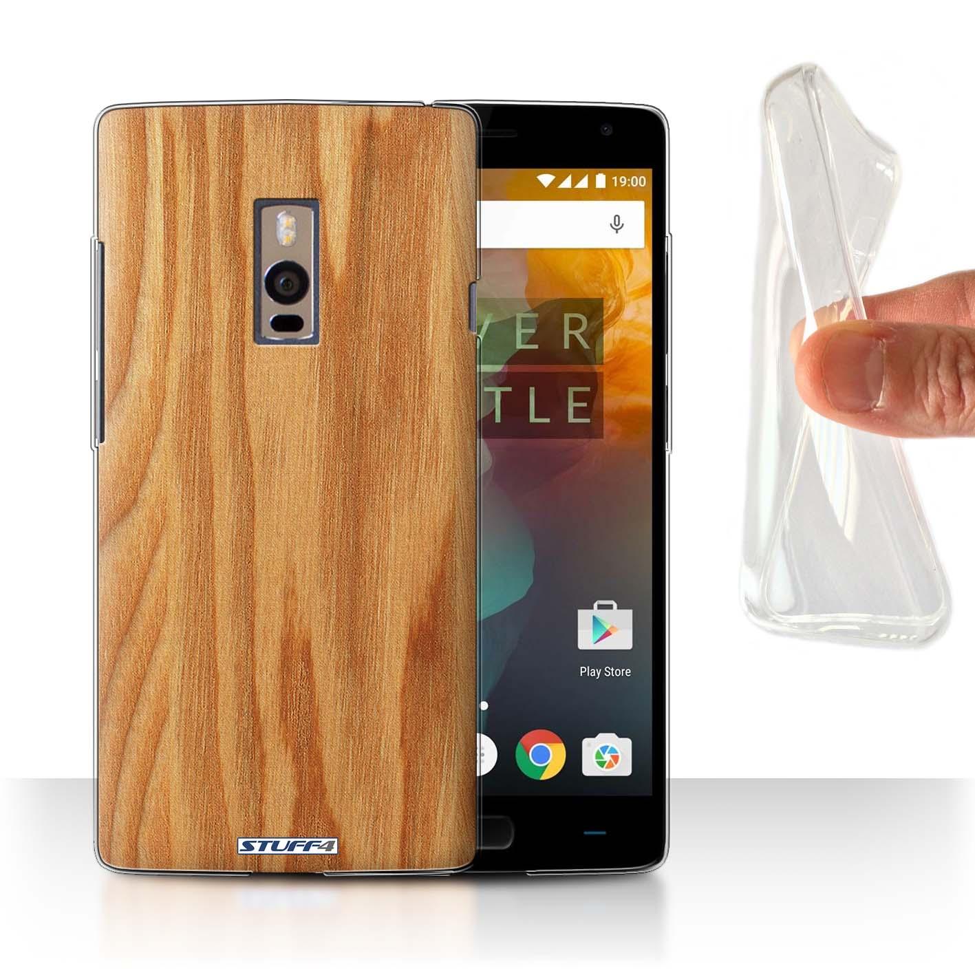 STUFF4-Gel-TPU-etui-de-telePhone-pour-Populaires-Dispositifs-Grain-Du-Bois-Effet