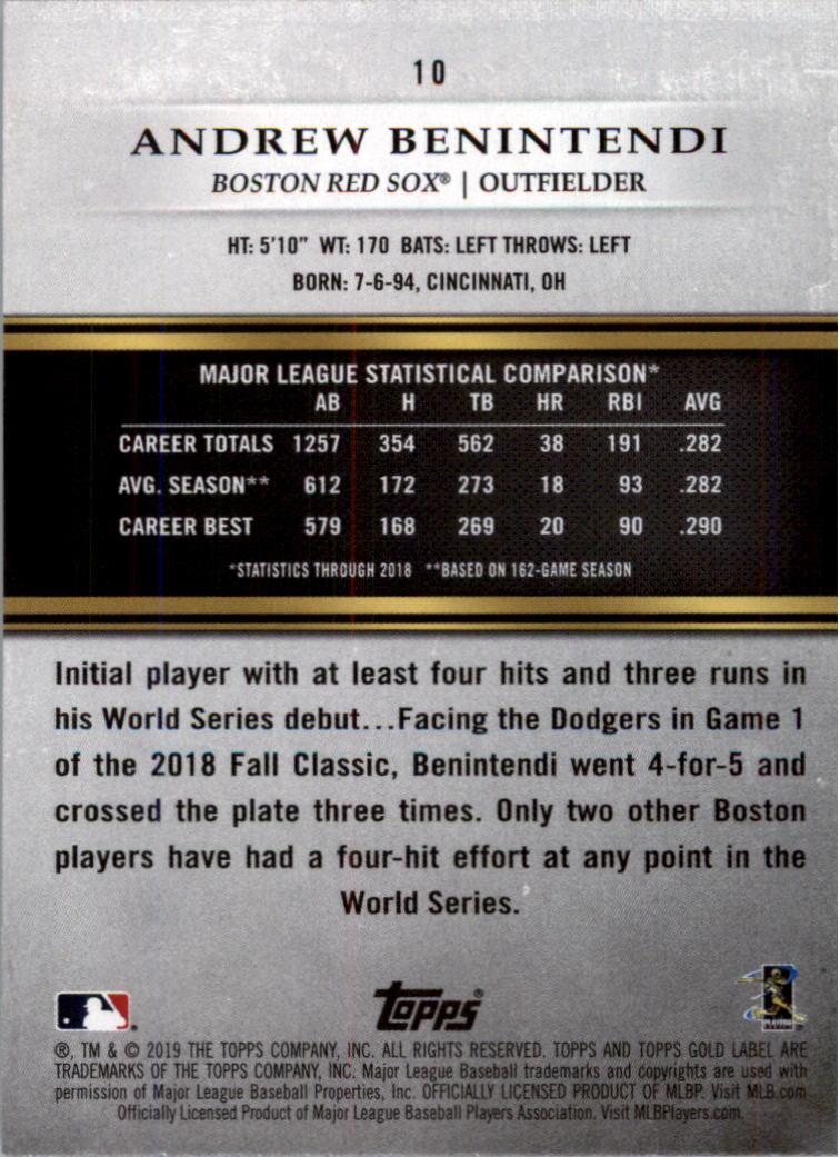 2019-Topps-Oro-Etichetta-Classe-2-Baseball-Scheda-Scegliere miniatura 9